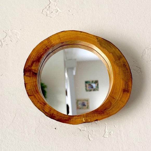 Unique wood framed mirror